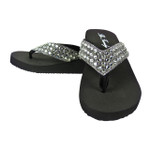 GRAY FULL RHINESTONE FASHION FLIP FLOP FF1-F101GRY