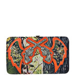ORANGE MOSSY CAMO RHINESTONE PISTOL LOOK FLAT THICK WALLET FW2-12133ORG