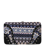 BLACK STUDDED TRIBAL FLAT THICK WALLET FW2-0301BLK