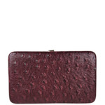 RED OSTRICH LEATHERETTE LOOK FLAT THICK WALLET FW2-3608RED