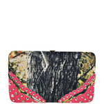 HOT PINK MOSSY CAMO STUDDED LOOK FLAT THICK WALLET FW2-3614HPK