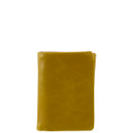 BROWN VEGAN LEATHER STITCH MENS TRIFOLD ID WALLET WEST WOLF S-2252BRN