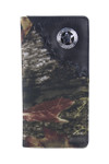 BLACK VEGAN LEATHER CAMO STAR METAL EMBLEM MENS RODEO LONG BIFOLD WALLET WEST WOLF X-2249-11BLK