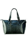 BLACK LUXURY CROCODILE VEGAN LEATHER HANDBAG M12H2243-BBLK