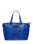 BLUE LUXURY CROCODILE VEGAN LEATHER HANDBAG M12H2243-BBLU