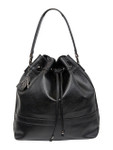 KADIE ASHMAN SHELBY BLACK VEGAN LEATHER HANDBAG D084BLK