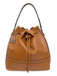 SHELBY BROWN VEGAN LEATHER HANDBAG D084BRN