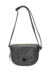 MAY GRAY BRAIDED CLASP VEGAN LEATHER SATCHEL MESSENGER BAG 8267GRY