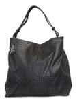 KADIE ASHMAN GABRIELLE BLACK FULL CROCODILE CONCEALED CARRY VEGAN LEATHER HANDBAG J55018BLK
