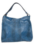 KADIE ASHMAN GABRIELLE NAVY FULL CROCODILE CONCEALED CARRY VEGAN LEATHER HANDBAG J55018NVY