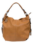 KADIE ASHMAN ANNA BROWN CONCEALED CARRY VEGAN LEATHER HANDBAG J88212BRN
