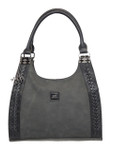 KADIE ASHMAN  MOLLY BLACK BRAIDED CONCEALED CARRY VEGAN LEATHER HANDBAG J99202BLK