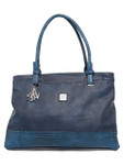KADIE ASHMAN KASSIDY NAVY CROCODILE CONCEALED CARRY VEGAN LEATHER HANDBAG J99200NVY