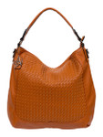 KADIE ASHMAN LAYLA BROWN WEAVE  CONCEALED CARRY VEGAN LEATHER HANDBAG J55017BRN