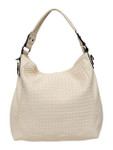 KADIE ASHMAN LAYLA BEIGE WEAVE  CONCEALED CARRY VEGAN LEATHER HANDBAG J55017BEI