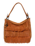 KADIE ASHMAN TONYA BROWN FRINGE VEGAN LEATHER HANDBAG D090BRN