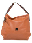 KADIE ASHMAN DEBBIE BROWN SPIRAL STRAP VEGAN LEATHER HANDBAG J99203BRN