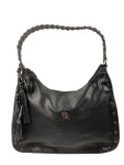 KADIE ASHMAN KELSEY BLACK STUDDED BRAIDED STRAP CONCEALED CARRY VEGAN LEATHER HANDBAG 8272BLK