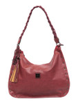 KADIE ASHMAN KELSEY RED STUDDED BRAIDED STRAP CONCEALED CARRY VEGAN LEATHER HANDBAG 8272RED
