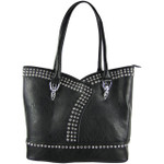 BLACK STUDDED RHINESTONE LOOK SHOULDER HANDBAG HB1-AB-9037BLK