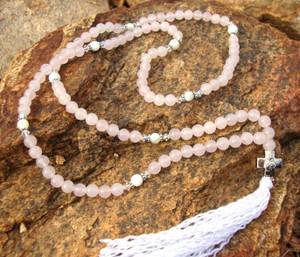 Rose Quartz 100-bead Prayer Rope