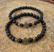 4 and 6 mm bead bracelets