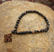 Tiger Ebony 33-Bead Prayer Rope