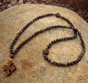 Tiger Ebony 100-Bead Prayer Rope