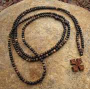 Tiger Ebony 300-Bead Prayer Rope