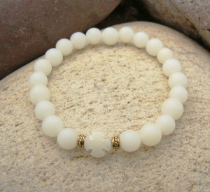 Ivory Buri Seed Wrist Prayer Rope