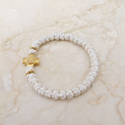 Keepsake White Satin Prayer Bracelet