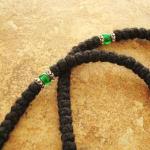 Dark Green Glass Divider Bead
