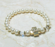 Cream Rose Swarovski Pearl Prayer Bracelet