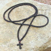 300-knot prayer rope - 2 ply with garnet beads