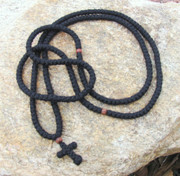 300-knot prayer rope - 4 ply with wooden beads