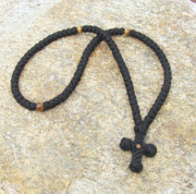 100-knot Prayer Rope with Stone Beads - Tigereye