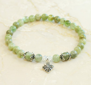 Green Kyanite Prayer Bracelet