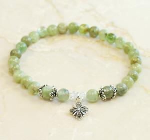Green Kyanite Prayer Bracelet