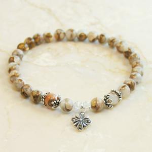 Red calcite prayer bracelet