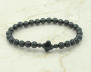 Black agate prayer bracelet