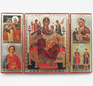 """Triptych of the Mother of God """"Queen of All"""" with saints"""