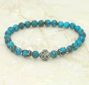 Kingman Turquoise Prayer Bracelet