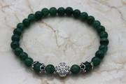 Semi-Precious Stone Jade Prayer Bracelet