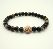 Striped Agate Prayer Bracelet