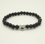 Black Agate Prayer Bracelet