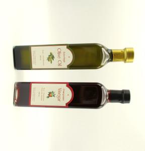 Olive Oil and Pomegranate Vinegar