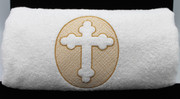 Embroidered Baptismal Towel - Bath size
