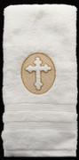 Embroidered Baptismal Towel - Hand size