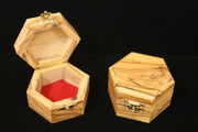 Handcrafted Bethlehem Olive Wood Octagon Box - Small