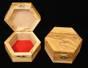 Handcrafted Bethlehem Olive Wood Octagon Box - Large